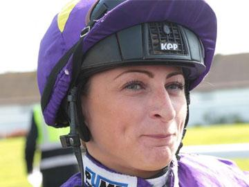The jockey Nicola Currie