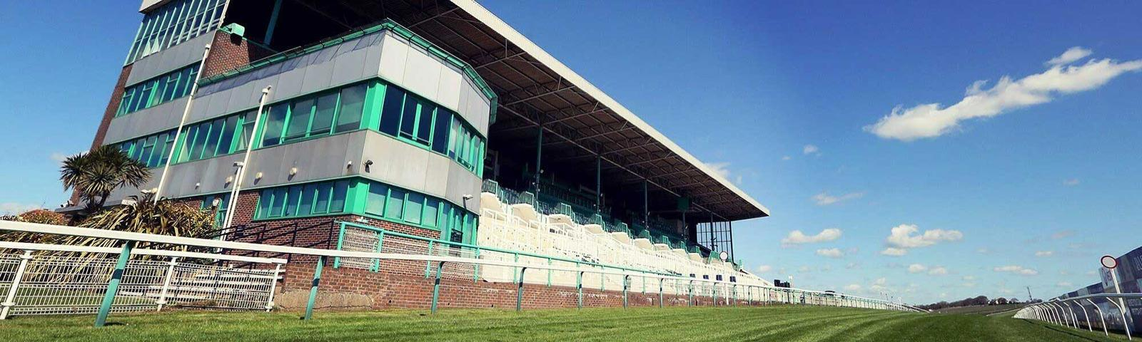 A view of the grandstand at Brighton Racecourse.
